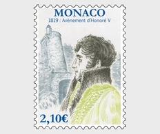 H01 Monaco 2019 Bicentenary Of The Accessionon Of Honore V MNH Postfrisch - Monaco
