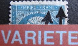 R1917/14 - NAPOLEON III N°22 - GC 2145A : LYON - VARIETE ➤➤➤ N De FRANC Incomplet + Filet Nord Gonflé à Droite - 1862 Napoleon III