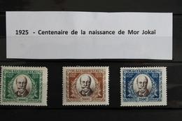 1925     -   CENTENAIRE  DE  LA  NAISSANCE  DE  MOR  JOKAÏ     OBLITERES - Hongrie