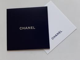 "CHANEL ~~~  "" Carte + Enveloppe    "" Couleur Bleue Marine - Perfume Cards"