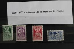 1930     -   9ème  CENTENAIRE  DE  LA  MORT  DE  SAINT  EMERIC    OBLITERES - Hongrie