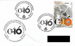 SPAIN. POSTMARK. 40th ANNIV. SPANISH CONSTITUTION. 2018 - Marcofilia - EMA ( Maquina De Huellas A Franquear)