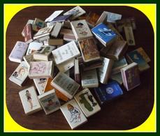Lot Vrac Boîtes Et Pochettes Allumettes Tous Formats Dont Certaines Pleines (tout Venant Doubles Possibles) - Boites D'allumettes