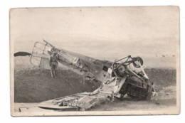 Carte Photo  Avion Abattu 1923   Voir Texte - Non Classificati