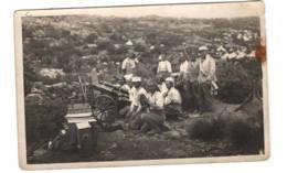 Carte Photo   1923 Groupe Militaire, Légion?, Piéce D'artillerie - Maroc