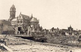 CARTE PHOTO ALLEMANDE - VUE SUR LA VILLE DE MERVILLE PRES DE ESTAIRES NORD - GUERRE 1914 1918 - 1914-18