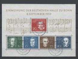 Bund , Beethovenblock Mit Tagesstempel - BRD