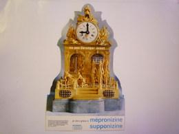 2019  (599)  :  PENDULE En Bronze Doré Sur Socle De Marbre. Style  LOUIS XVI  -   PUB Pharmaceutique  X - Jewels & Clocks