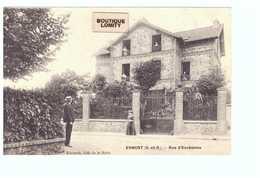 95 Ermont Rue D' Eaubonne Cpa Carte Animée Edit Edouard Café De La Halte - Ermont