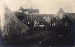 CARTE PHOTO ALLEMANDE - BIVOUAC AU CAMP DE MONTAUBAN PRES DE MAUREPAS - COMBLES SOMME - GUERRE 1914 1918 - 1914-18