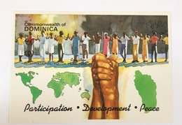 Commonwealth Of Dominica 1985 International  Youth Year Ms Souvenir Essay Proof IMPERF - Dominica (1978-...)