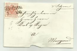 FRANCOBOLLO  DA 3  KREUZER BOTZEN  1857  SU FRONTESPIZIO - Gebraucht