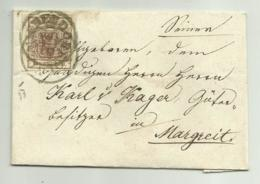 FRANCOBOLLO  DA 6  KREUZER   1853  SU FRONTESPIZIO - 1850-1918 Empire