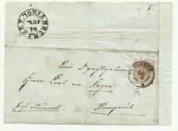 FRANCOBOLLO  DA 6  KREUZER INNSBRUCK   1852  SU FRONTESPIZIO - 1850-1918 Imperium