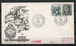 España. 1952. 1º Congreso Nacional De Excombatientes. - Marcofilia - EMA ( Maquina De Huellas A Franquear)