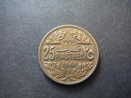 25 Piastres 1961 - République Libanaise - Liban