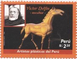 Lote P2006-9, Peru, 2006, Sello, Stamp, 2 V, Artistas Plasticos Del Peru, Fernando De Szyszlo, Victor Delfin, Art, Horse - Perú