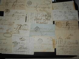 France Collection 15 Lettres Avec Marque Postale 19 Eme - Francia
