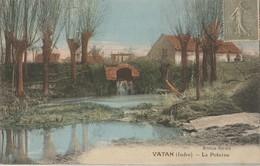 VATAN - LA POTERNE - BELLE CARTE COLORISEE - 2 SCANNS - - France