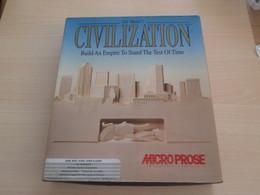 JEU CIVILIZATION SID MEIER POUR AMIGA MICROPROSE 1991 Vu à Près De 60€ Che I-B , Complet , TBE - Jeux PC