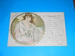 Illustrateur ) Mucha - Octobre  : Année 1902 : EDIT : - Mucha, Alphonse