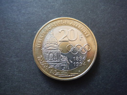 20 Francs 1994 - Pierre De Coubertin - Frankreich