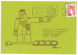 Carte Pétition, Service National, Droit à L'objection, Militaires, Signée Gulliver, Moutons, Avignon  ( PO ) - Evènements