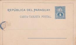 Intero Postale Nuovo Da 3 Centavos - Paraguay