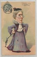 Cpa Humour Illustrée Carte Gauffrée Voila La Fée Des Doux Amants Que L'hyménée Bientot Attend 1906 - Humor