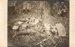 CARTE PHOTO FRANÇAISE - CADAVRE AVIATEUR ALLEMAND ABATTU DANS LE BOIS DE PUVENELLE A JEZAINVILLE PRES NANCY 1915 - 1914-18