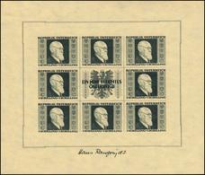 Österreich 772-775B Karl Renner, Auf Gelbem Japanpapier Im Kleinbogen, Satz ** - 1945-.... 2. Republik