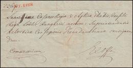Ungarn Vorphilatelie Ex-officio-Brief Roter Einzeiler V.F. OFEN Vom 18.11.1825 - ...-1867 Vorphilatelie