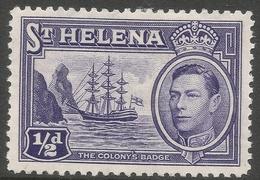St Helena. 1938-44 KGVI. ½d MH. SG 131 - Saint Helena Island