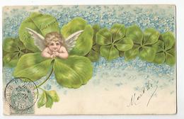 Cpa Ange Sur Tréffle 1906 Cachet Pointillé Aiguebelette 73 Savoie - Angels