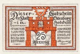 Billet Allemand - 25 Pfennig - Oldenburg In Holstein 1922 - Le Port - [11] Emissions Locales