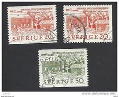 Schweden, 1963, Michel-Nr. 511-512 A+D, Gestempelt - Schweden
