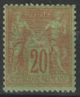 Année 1884 - N° 96 - Type Sage - 20 C. Brique Sur Vert - Type II - Neuf - Voir Scan. - 1876-1878 Sage (Type I)