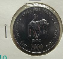 Somalia 10 Shillings 2000 Dog Varnished - Somalie
