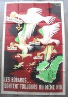 """Grande Affiche De Propagande Régime De Vichy 1941 """" Les Bobards Sortent Toujours Du Meme Nid """"6 Scans - Affiches"""