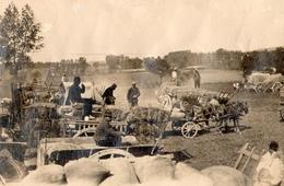 PHOTO FRANÇAISE -  RAVITAILLEMENT EN GARE DE MERICOURT L'ABBE PRES DE VILLE SUR ANCRE - ALBERT SOMME GUERRE 1914 1918 - 1914-18