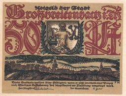 Billet Allemand - 50 Pfennig - Grossbreitenbach In Thüringen - Stadtwappen Et Ortsmotiv, Glasbläserei - [11] Emissions Locales
