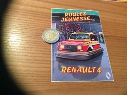 AUTOCOLLANT, Sticker «ROULEZ JEUNESSE - RENAULT 4 » - Stickers