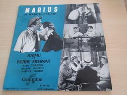 VYNIL 33t 25 Cm TBE : Marius De Marcel Pagnol, Raimu, Pierre Fresnay, Charpin. 33TColumbia 33FH501 - Formats Spéciaux