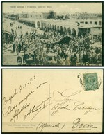 CARTOLINA - V8577 COLONIE ITALIANE TRIPOLITANIA 1912 Cartolina Illustrata (Tripoli Il Mercato Sulla Via Arizia) - Libia