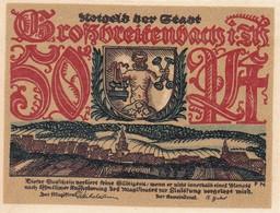 Billet Allemand - 50 Pfennig - Grossbreitenbach In Thüringen - Szenen Der Holz-Industrie - [11] Emissions Locales