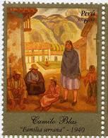 Lote P92a, Peru, 2008, Sello, Stamp, Camilo Blas, Familia Serrana. Art, Family, Woman - Perú