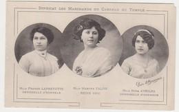 26867 Lot 3 Cpa Syndicat Marchands Carreau Temple Paris -Reine Beauté -char 1912 -Leprevotte Falise Aveilha- Carte-photo - France