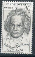 Y85 Czechoslovakia 1970 1924 UNESCO. Ludwig Van Beethoven (1770-1827). Music. Composer - Musica