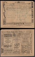 TABAC - PHOTO - CHOCOLAT - RADIO Etc... / 1927 INDE TELEGRAMME A PUBLICITES MULTIPLES  (ref 7375) - Timbres