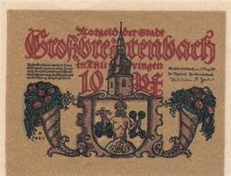 Billet Allemand - 10 Pfennig - Grossbreitenbach In Thüringen 1921 - [11] Emissions Locales